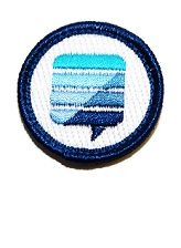 "Merit Badge: 1"" diameter"